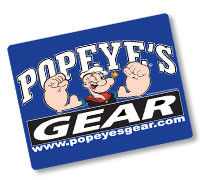Popeye's GEAR Mouse Pads - Blue
