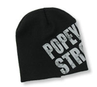 Popeye's GEAR Beanie 'Popeye's Strong' - Grey Text