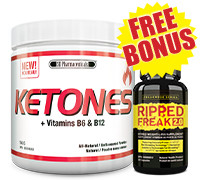 SD Pharmaceuticals Ketones + Vitamins B6 & B12 - Natural/Unflavoured + FREE BONUS Pharmafreak Ripped Freak 2.0 *Trial Size*